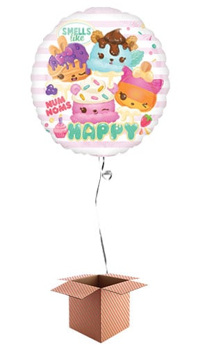 Num Noms Round Foil Balloon - Inflated Balloon in a Box Product Image