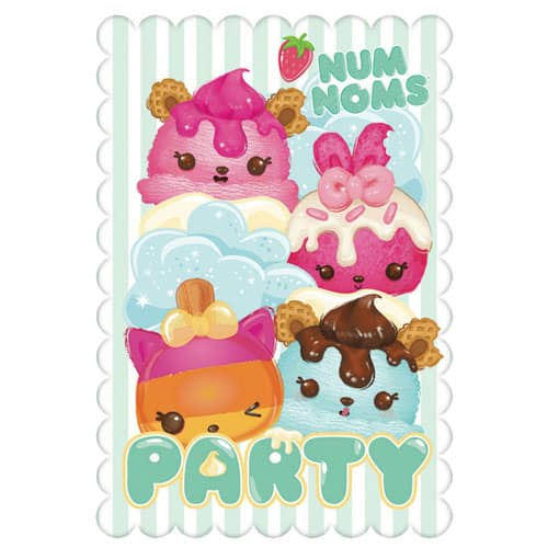 Num Noms Invitations With Envelopes - Pack of 8