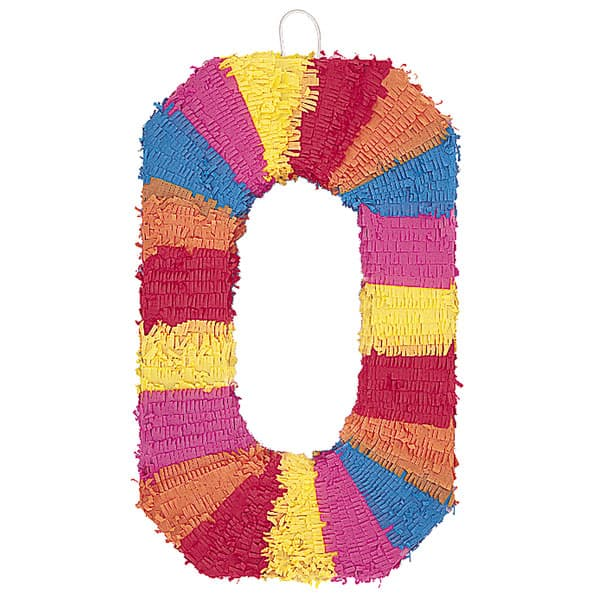 Number 0 Shaped Standard Pinata Product Image