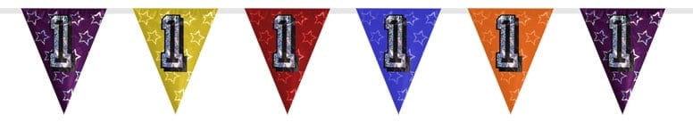 Number 1 Triangle Holographic Bunting - 8m Product Image