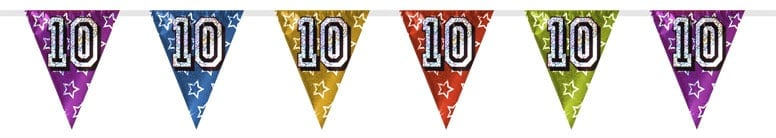 Number 10 Triangle Holographic Bunting - 8m Product Image