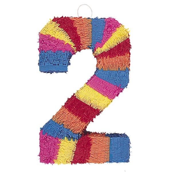 Number 2 Shaped Standard Pinata Product Image