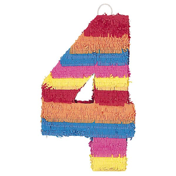 Number 4 Shaped Standard Pinata Product Image