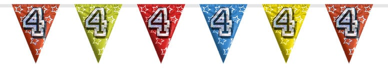 Number 4 Triangle Holographic Bunting - 8m Product Image