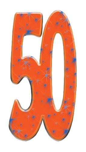 Number 50 Lifesize Cardboard Cutout - 171cm