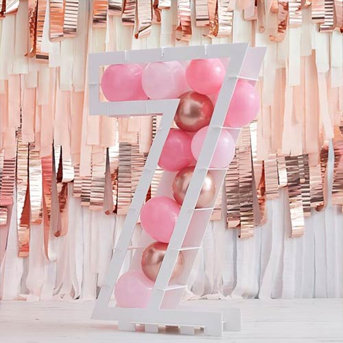 Number 7 Mosaic Balloon Frame Product Gallery Image