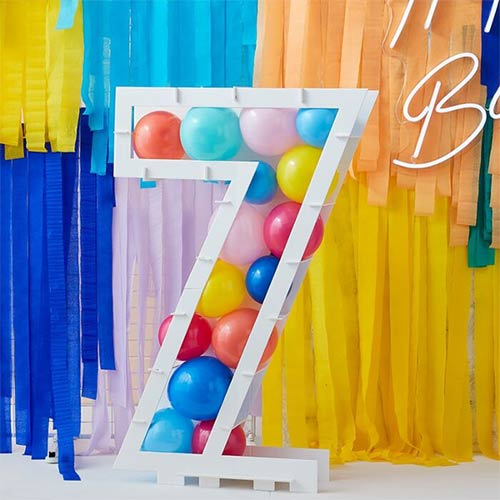Number 7 Mosaic Balloon Frame Product Image