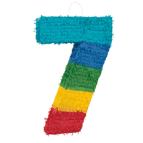 Number 7 Standard Pinata Product Image