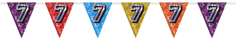 Number 7 Triangle Holographic Bunting - 8m Product Image