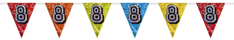 Number 8 Triangle Holographic Bunting - 8m Product Image