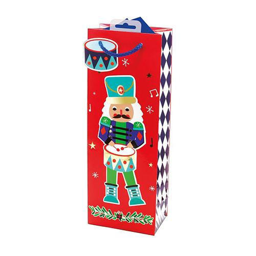 Nutcracker Christmas Bottle Gift Bag 35cm