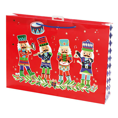 Nutcracker Christmas Extra Large Gift Bag 33cm