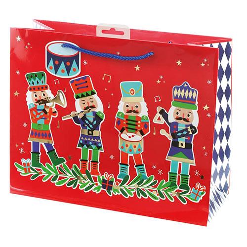 Nutcracker Christmas Large Gift Bag 26cm