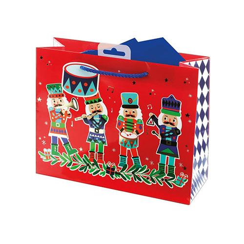 Nutcracker Christmas Medium Gift Bag 21cm