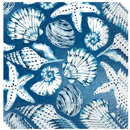 Ocean Blue Reef Luncheon Napkins 33cm 2ply - Pack of 16 Bundle Product Image