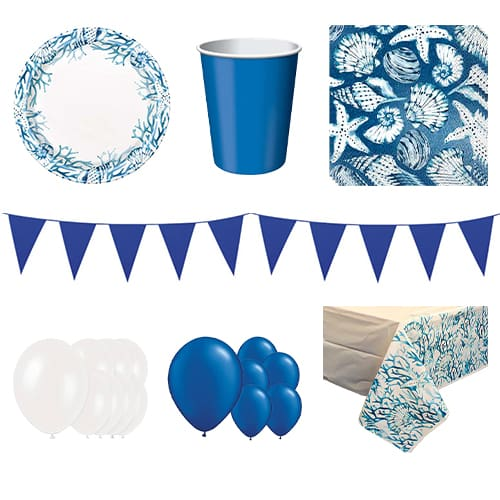 Ocean Blue Reef 16 Person Deluxe Party Pack Product Image