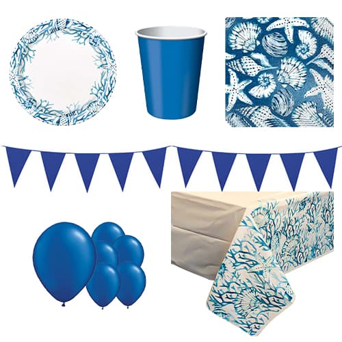 Ocean Blue Reef 8 Person Deluxe Party Pack Product Image