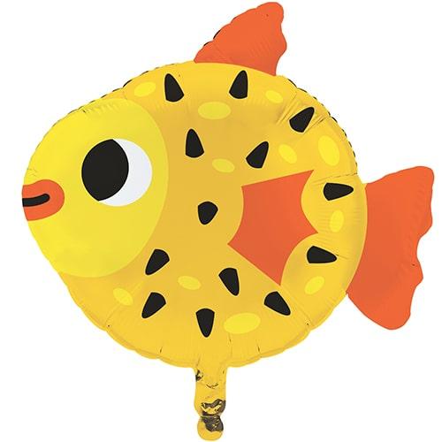 Ocean Celebration Fish Shape Foil Helium Balloon 63cm / 25 in Product Image