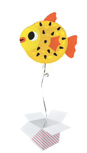 Ocean Celebration Fish Foil Helium Balloon - Inflated Balloon in a Box Product Image