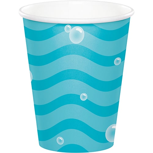 Ocean Celebration Sea Bubbles Paper Cups 266ml - Pack of 8 Product Image