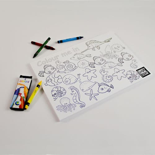 Ocean Themed A4 Colouring sheet With 4 Crayons Product Image