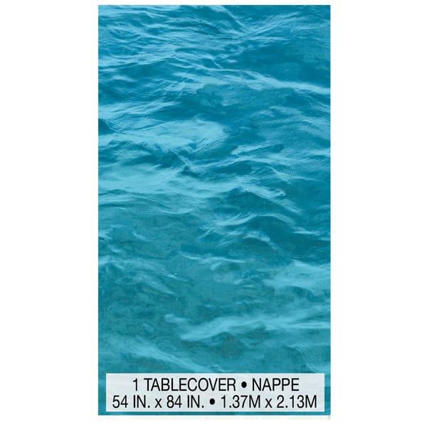 Ocean Waves Plastic Tablecover 274cm x 137cm