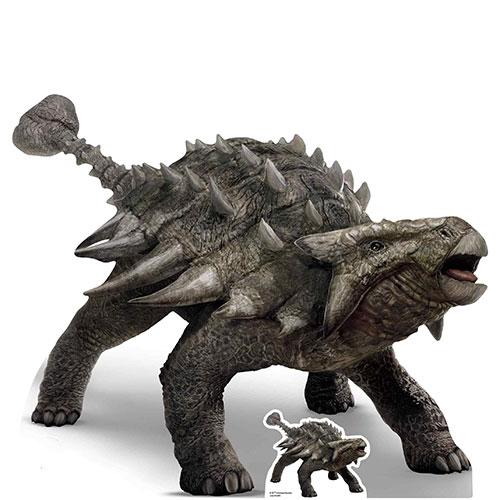 Official Jurassic World Ankylosaurus Dinosaur Lifesize Cardboard Cutout 103cm Product Image