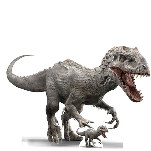 Official Jurassic World Indominus Rex Dinosaur Side View Lifesize Cardboard Cutout 92cm