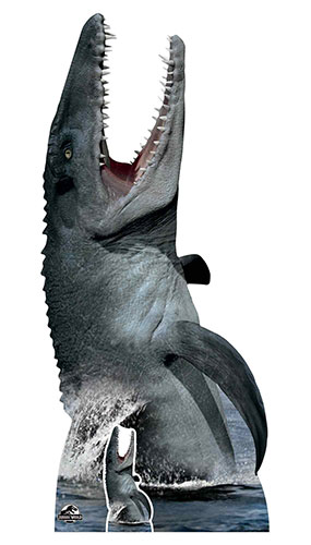 Official Jurassic World Mosasaurus Dinosaur Lifesize Cardboard Cutout 189cm Product Image