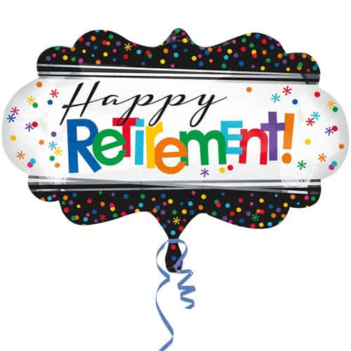 Happy Retirement Helium Foil Giant Balloon 68cm / 27 in Product Image