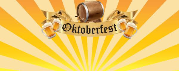 Oktoberfest Beer Barrel Design Medium Personalised Banner - 6ft x 2.25ft
