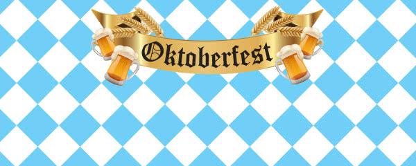 Oktoberfest Beer Design Medium Personalised Banner - 6ft x 2.25ft