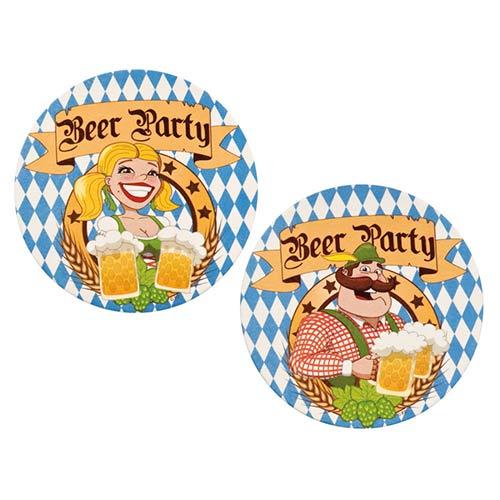 Oktoberfest Beer Party Coasters - Pack of 10
