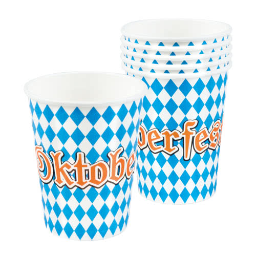 Oktoberfest Paper Cups 250ml - Pack of 6 Bundle Product Image