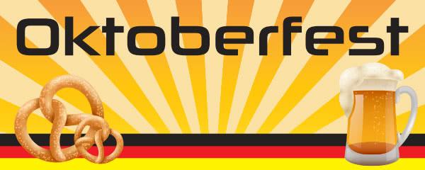 Oktoberfest German Flag Design Medium Personalised Banner - 6ft x 2.25ft
