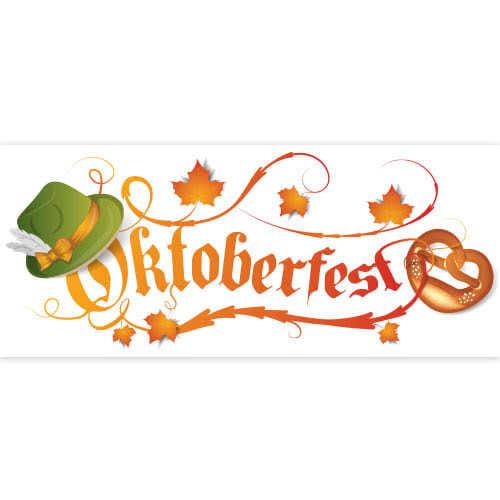 Oktoberfest Autumn Leaves PVC Party Sign Decoration 60cm x 25cm Product Image