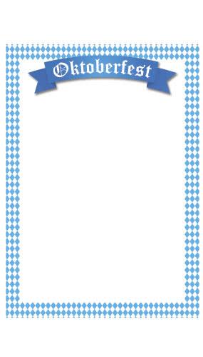 Oktoberfest Large Menu Board PVC Party Sign Decoration 67cm x 99cm Product Image