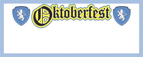 Oktoberfest Lion Crest Design Small Personalised Banner - 4ft x 2ft