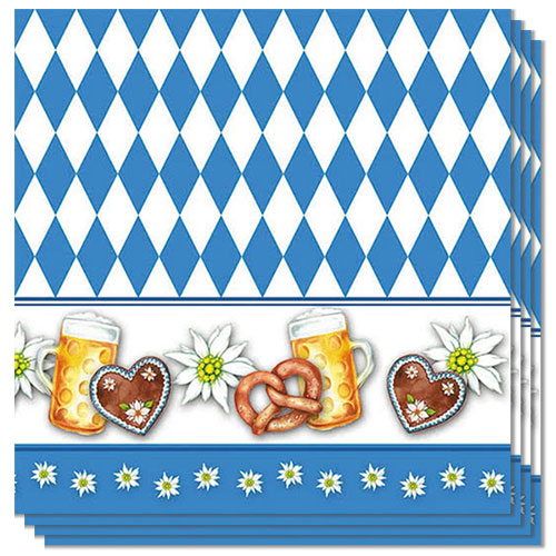 Oktoberfest Luncheon Napkins 3Ply 33cm - Pack of 20 Product Image