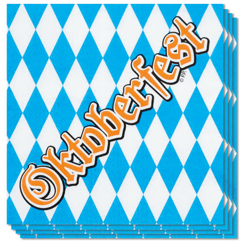 Oktoberfest Luncheon Napkins 33cm 2Ply - Pack of 12 Bundle Product Image