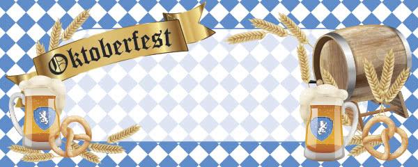 Oktoberfest Pretzels Design Large Personalised Banner - 10ft x 4ft