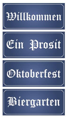 Oktoberfest PVC Party Sign Decorations 60cm x 25cm - Pack of 4 Product Image