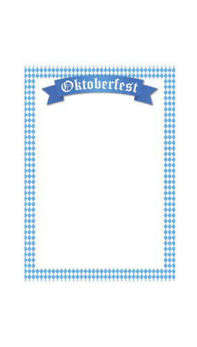 Oktoberfest Small Menu Board PVC Party Sign Decoration 44cm x 62cm Product Gallery Image