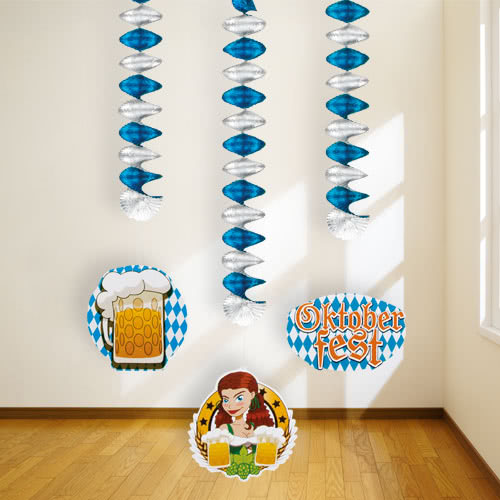 Oktoberfest Hanging Spiral Decorations - Pack of 3 Product Image