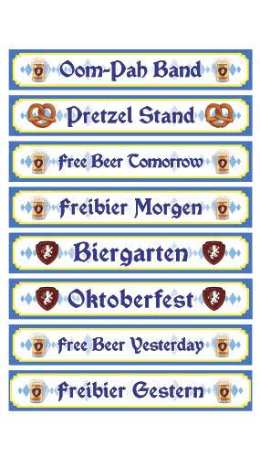 Oktoberfest PVC Party Sign Decorations 91cm x 15cm - Pack of 8 Product Image