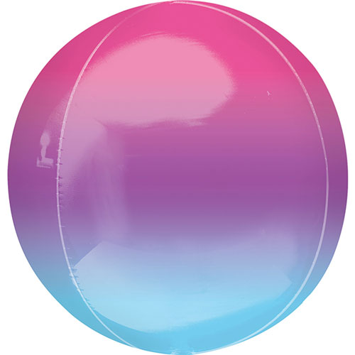 Ombre Purple And Blue Orbz Foil Helium Balloon 38cm / 15 in