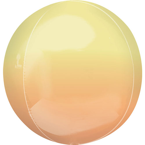 Ombre Yellow And Orange Orbz Foil Helium Balloon 38cm / 15 in