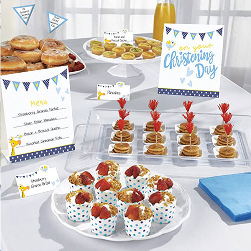On your Christening Day Blue Buffet Decoration Kit