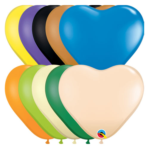 Opaque Hearts Assortment Mini Latex Qualatex Balloons 15cm / 6 in - Pack of 100 Product Image