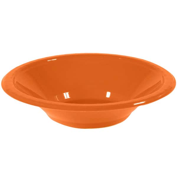 Orange Plastic Bowls 17cm - Pack of 20